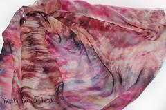 Pink Agate #2 (beesybee) Tags: felting handdyedscarf handdyedsilkfabric nunofeling scarf shibori silkchiffon silkfabric