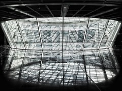 Dimension Gate Control, Frankfurt (hedshot) Tags: window dimension reflection airport form abstract shards shapes monochrome unphotoshopped