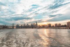 """The Hudson River - New York City (!"""" Carlos Mazariegos) Tags: hudson river new york city nueva rio sunset sky bridge cielo atardecer puente carlos mazariegos canon mark iii 5d 2470mm"""