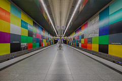 Georg-Brauchle Ring (sarah_presh) Tags: georgbrauchlering metro station underground munich germany colours colourful nikond750