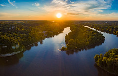 Starved Rock (patkelley3) Tags: aerial state park forest river sunset