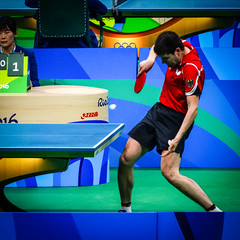 'cause this is thriller (MastaBaba) Tags: 20160821 brazil brasil rio riodejaneiro olympics olympicgames summerolympics sports germany tabletennis table blue ball