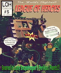 World's Mightiest: League of Heroes # 5 (jgg3210) Tags: lego leagueofheroes loh retro comic comicbook cover moc minifigure minifigures cobalt cyclone gothic ghoul lady snapdragon superhero supervillain new brickton plant vintage vines greenhouse clara p hill chlorophyll pun