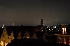 Distance Lightning - Haarlem, the Netherlands (Dutchflavour) Tags: lightning cityscape city night bolts longexposure dark airplane trails