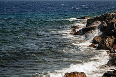 Shore (lyrks63) Tags: mandraki le island kos greece grec sun summer village grecque grce shore sea waves rivage cte