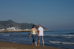 Sitges.Catalonia.Spain (Natali Antonovich) Tags: sitgescataloniaspain sitges catalonia spain lifestyle seashore seasideresort seaside seaboard portrait water beach sea couple pair heandshe harmony walking walk together mood nature landscape
