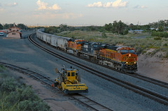 BNSF Mountainair, NM (jtrainb) Tags: train transportation locomotive gevo depot bnsf railway mountainair newmexico