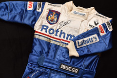 #39/52 handmade Jacques Villeneuve racesuit made by my brother for the first Canadian in the family, circa 1997 (PJMixer) Tags: 52weekproject nikon toronto dogwood52 dogwoodweek39 family formula1 home