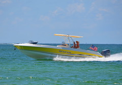 Enjoying the Good Life? (Neal D) Tags: florida beach stpetersburg passagrille boat speedboat scarab