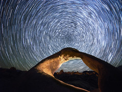 Mobius Arch startrails (R Lund photography) Tags: mobiusarch alabamahills milkyway astrophotography night startrails desert