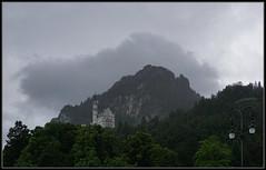 Light and Dark at Neuschwanstein (J-o-h-n---E) Tags: awps aperturewoolwich bavaria germany fussen neuschwanstein neuschwansteincastle mountain weather rain clouds light dark lightanddark trees