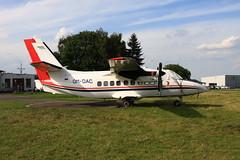 OM-DAC Let 410UVP at Kolin, CZ (flyingaxel) Tags: aviation aircraft turboprop let 410 l410 uvp kolin cz