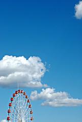 untitled  (ulaan baatar, mongolia) (bloodybee) Tags: ferriswheel amusementpark ulaanbaatar mongolia asia travel minimal minimalism sky clouds blue white red