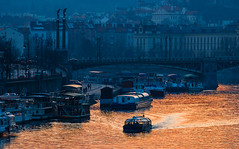 Praha! (Honzinus) Tags: praha prague prg praga cz czech esko esk echy vltava echv most veer evening sunset vlda r river