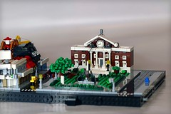 Hill Valley Clock Tower (Frost Bricks) Tags: lego bttf back future micropolis microscale hill valley clock tower moc