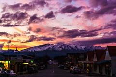 Wanaka - Helwick Street 2 (realzealman) Tags: wanaka water lake street otago newzealand a6000 sky clouds centralotago mountains snow dusk pink light handheld