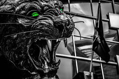 black panther statue (AgFineArtPhotography.com) Tags: cat hunter scary action afc aggression aggressive america animal bw bank black blackandwhite blackandwhitephotography bowl carnivorous carolina champions charlotte classic dangerous ear east eye fearless feline game histor historic k9 majestic nfc nfl nine north panthers players power stadium statue strength strong super symbol team teeth timeless west white wild wildlife