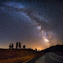 Under the milkyway (ilias varelas) Tags: milkyway stars sky light landscape longexposure ilias varelas greece galaxy atmosphere trees