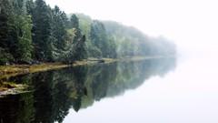 Morning (Patrick.Mtl.) Tags: morning fog foggy nature lake gaspesie campground lac matin brouillard landscape paysage
