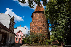 2016 - Baltic Cruise - Wismar - Water Tower (Ted's photos - For Me & You) Tags: 2016 balticcruise tedmcgrath tedsphotos wismar wismargermany germany watertower unesco unescoworldheritagesite tower cropped vignetting roundtower