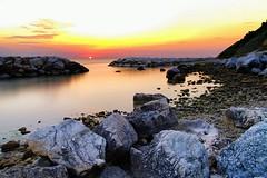 The Sun is rising (Mario Ottaviani Photography) Tags: sony sonyalpha sea seascape dawn alba italy italia paesaggio landscape travel adventure nature scenic exploration view vista breathtaking tranquil tranquility serene serenity calm walking sun rising risingsun reefs rocks