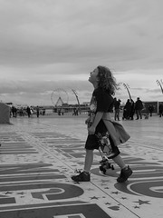 Seeing Blackpool Tower (isdky) Tags: huaweip9 leica blackpool tower boy looking monochrome blackandwhite bw