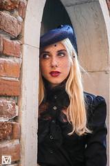 Vale - 8 (marcellomasiero) Tags: blonde blondegirl beauty beautiful lips blueeyes italian venice hat blackdress
