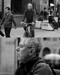 [La Mia Citt][Pedala] (Urca) Tags: 89111 milano italia 2016 bicicletta pedalare ciclicsta ritrattostradale portrait bike bicyclenikondigitale mir biancoenero bn bw blackandwhite