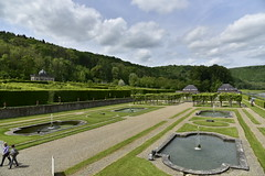Les quatre pices d'eau principales (Flikkersteph -4,000,000 views ,thank you!) Tags: springtime garden waterpool fountain tranquillity landscape nature footpaths reflecting wonderful hills slopes cloudy shadow trees foliage castle hastire wallonia belgium