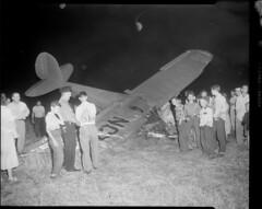 Plane crash (Boston Public Library) Tags: night aviation lesliejones aircraftaccidents