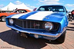 1969 Chevy Camaro Z28 (scott597) Tags: blue 1969 church downs kentucky hill camaro chevy louisville concours 2012 z28