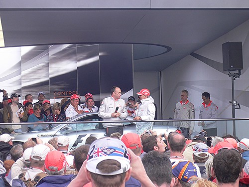 McLaren's Heikki Kovalainen interviewed at the 2008 British Grand Prix