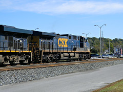 CSX 571 Waiting to depart (Photo Squirrel) Tags: railroad train maryland brunswick locomotive ge csx freighttrain railroadstructure brunswickmd railroadyard csxt interlockingtower ac44cw darkfuture railroadbuilding metropolitansubdivision wbtower csxdarkfuture frederickcountymd gelocomotive csxmetropolitansubdivision railroadyardtower csx571