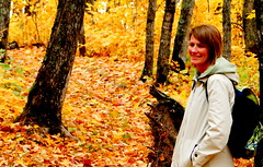 October Hike (Mark Deisinger) Tags: autumn trees orange minnesota gold woods october takenbymark obergmountain