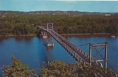 Marquette, Iowa, Prairie Du Chien, Wisconsin, Suspension Bridge, Mississippi River (photolibrarian) Tags: mississippiriver suspensionbridge prairieduchienwisconsin marquetteiowa