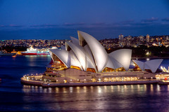 Classic Opera House (Nuxis [Davide]) Tags: sea house tourism night opera australia nsw a77 syndey
