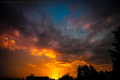 Fire (.Markus Landsmann) Tags: light sunset sky cloud sun sunlight nature silhouette clouds sunrise landscape sonnenuntergang sundown pentax natur skylight himmel wolke wolken wideangle landschaft sonne sunbeams lightroom leverkusen weitwinkel lr4 k20d pentaxk20d mlphoto lightroom4 mlphoto markuslandsmannzenfoliocom markuslandsmann mlandsmann