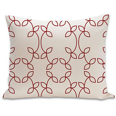 Vine Organic Pillow in Cayenne and Natural 15x18 (PURE Inspired Design) Tags: customfurniture organicfabric ecofriendlyfurniture woolrugs