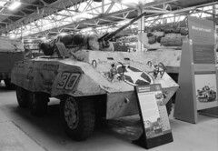 More from Bovington - M8 greyhound (Ronald_H) Tags: bw greyhound car museum nikon tank wwii m8 100 em 2010 bovington foma armoured fomapan