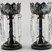 259. Pair of Aesthetic Period Black Amethyst Lusters