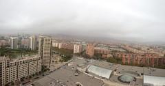 Slightly foggy start of the day