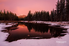 Red Twilight, Yosemite High Country (Kristal Leonard) Tags: sunset reflections yosemite tuolumnemeadows tiogapass mtgibbs cloudsstormssunsetssunrises
