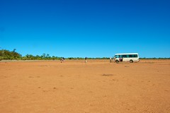 Tickets please (Andy Burton Oz) Tags: bus transport australia bluesky qld queensland outback cloudless 2012 claypan redsoil cunnamulla bowra warrego nikond40 andyburton afsdxzoomnikkor1855mmf3556gedii bowrastation southwestqueensland bowrasanctuary aperture341