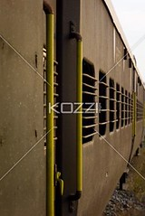 Outside of Train (drewtrans8877) Tags: old india abandoned window yellow metal rural train outdoors handle ancient iron paint publictransportation steel painted grunge perspective case dirty rest decrepit dilapidated grungy southindia landtransportation keralastate