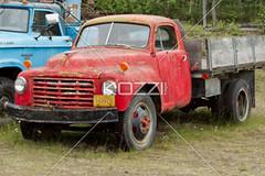 red pallet truck (jenntrans8877) Tags: old red classic car alaska museum truck vintage ancient automobile antique antiquecar rusted transportation weathered trucks oldcars vintagecars outdated landtransportation