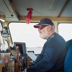 Nobody messes with The Captain (magastrom) Tags: 120 6x6 sunglasses ferry rolleiflex beard boat kodak sweden cap captain portra seadog v700 storholmen tessar7535 rolleiflexautomatk4a magastrom magnusåström