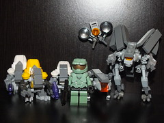 Lego Halo 4 Characters (Danny.B08) Tags: david hall cool lego chief awesome 4 halo master knight renegade watcher grunts crawler brickarms prometheans
