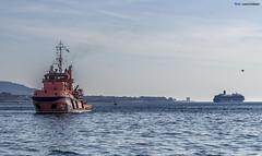 Visita Isla de San Simón - 06-09-2012 (DNS Fotografía) Tags: simon mar san barco sony galicia 1855 sel isla gaviota pontevedra ria vigo c3 crucero nex teis remolcador trasatlantico cesantes