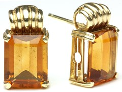 1023. Pair of Citrine and Gold Earrings, H. Stern