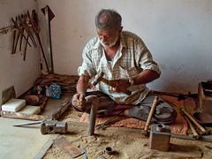 Gujarat : Nirona, Gujarat : Nirona, Copper Coated Metal Bells #5 (foto_morgana) Tags: india bells asia tribal ethnic handicrafts gujarat meghwal nirona lohar kachchhdistrict copperbels